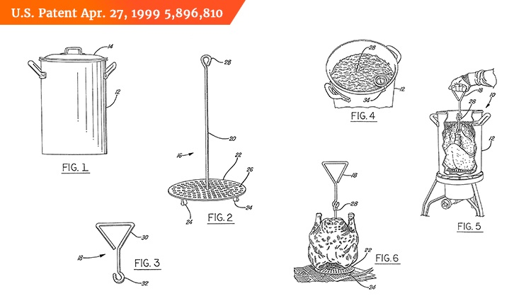 patented poultry frying apparatus U.S. Patent Apr.27, 1999 5,896,810