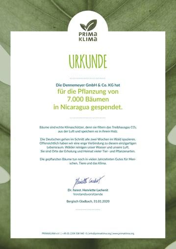 PRIMAKLIMA certificate